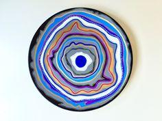 Decorative Plate - Colorful Decor - Agata Decor - Bohemian Art Decor - Bohemian Wall Art - Decorative Mandala - Original Porcelain…