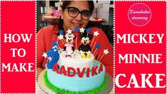 Mickey Mouse Minnie Mouse kids 2nd birthday theme cake baby boy girl des... Girls 2nd Birthday Cake, Happy Bday Cake, Easy Kids Birthday Cakes, Cartoon Birthday Cake, Friends Birthday Cake, Animal Birthday Cakes, Frozen Birthday Cake, Baby Birthday Cakes, Happy Birthday