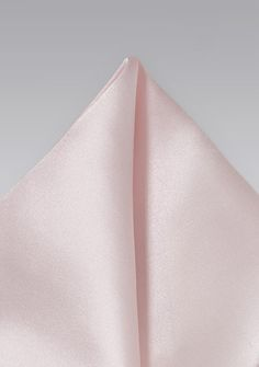 Mens Ultra Light Pink Pocket Square to go with the groom's tux