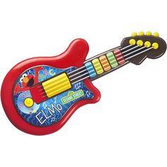 Playskool Sesame Street Elmo Guitar Toy, Multicolor