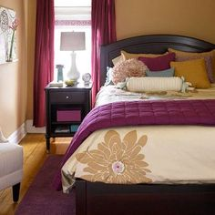 Love the plum and mustard color scheme.