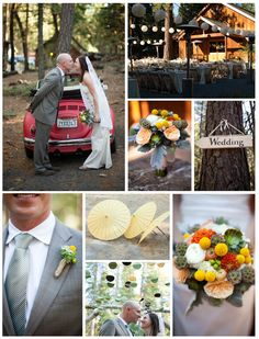How adorable is this wedding car?!