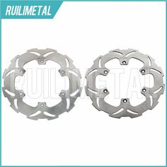 Stainless Steel High Quality Full Set Front Rear Brake Discs Rotors for YAMAHA YZ 125 90 91 92 93 94 95 96 97 WR 250 1990-1997 #Affiliate