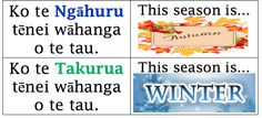 Springston Te Reo : Seasons of the Year