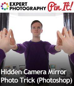 Hidden Camera Mirror Photo Trick (Photoshop)  http://www.expertphotography.com/hidden-camera-mirror-photo-trick-photoshop