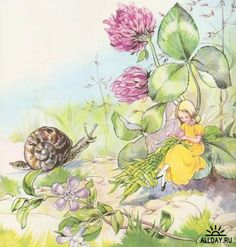 Illustrator Rene Cloke - snail and fairy