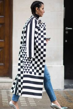 On the street at London Fashion Week. Photo: Timur Emek/Getty Images.