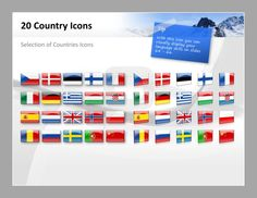 PowerPoint Template Flag Icons  #presentationload http://www.presentationload.com/powerpoint-maps/flag-icons-all-countries/