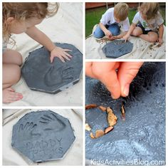 Make garden stepping stones with the kids.  Art for the yard!