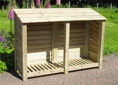 Large 6ft Wide Wood Log Store | Log Storage