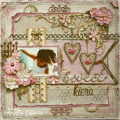 Hi all, Gabrielle here with you today to share my latest layout I made of one of my adorable...