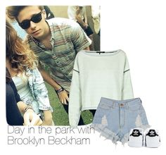"""""""Day in the park with Brooklyn Beckham"""" by dreaminess ❤ liked on Polyvore featuring rag & bone, adidas, brooklyn and BrooklynBeckham"""