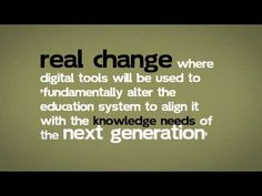 """George Siemens """"It's Not About the Tools, It's About Change"""""""