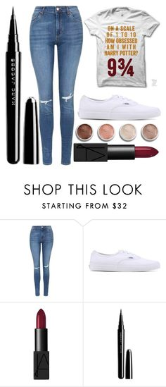 """""""Untitled #1861"""" by perbhaatkhowaja on Polyvore featuring Topshop, Vans, Terre Mère, NARS Cosmetics and Marc Jacobs"""