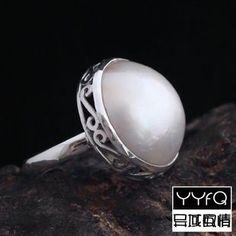 handmade mother pearl ring