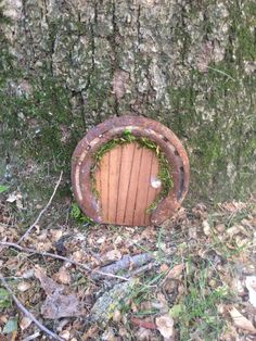 Fairy Door with used Horseshoes