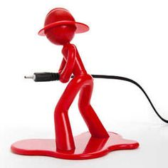 Fireman Charlie Charging Holder. Gift ideas for boyfriend. Gifts under $20. more boyfriend gifts at http://buyhimthat.com