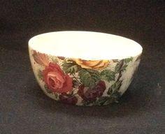 "Antique Royal Tudor Ware ""Lorna Doone"" Chintz Open Sugar Bowl Lorna Doone, Fat Bird, All Birds, Pretty Dolls, Royal Doulton, Lace Design, Tudor, Pattern Making, Sugar Bowl"
