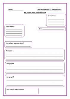 Image result for outline of informal letter