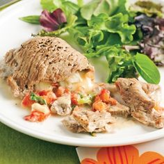 Stuffed Veal Cutlets with Brie - Recipes - Food and nutrition - Pratico Practice Brie Fondant, Actifry, Salmon Burgers, Nutrition, Beef, Chicken, Ethnic Recipes, Bison, Discovery
