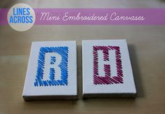 Embroidered Letter Canvases