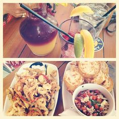 Photo by marrlys - BeautifulDayOff ;; patio lunch with my mom // sangria, bruschetta & fried calamari/onions/jalapeño& peppers. Cheersss! TGIF! @bethzaida2 #originaljoes