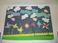 Are You Ready for Spring? 3-d display...pinwheel flowers- designed by Janet Ogden/ Beavercreek Community Library