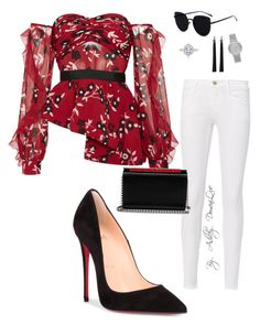 """By AD"" by ashleydomenique on Polyvore featuring self-portrait, Frame, Christian Louboutin and Michael Kors"