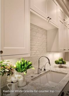 White cashmere marble counter top