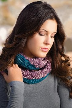 Previse Cowl by Sara Lucas, knit in Berroco Abode, Creative Knitting Spring '15