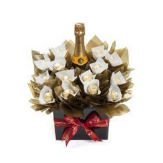 Champagne Sensation - Verve Clicquot and Ferrero Rochers. Chocolate Christmas Gift with alcohol.