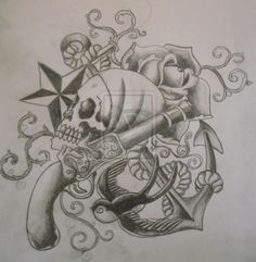 Pirate Tattoo Sketch By Cut Throat Jake On Deviantart Design 900x921 Pixel