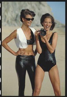 Linda Evangelista and Christy Turlington - May 1990