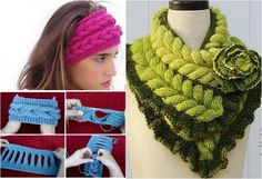 This beautiful Knitted Faux Braid headband is very easy to do, and so cute that you can make it longer or wider for a faux braid infinity scarf or add length or width to suite your personal project needs Knitted Mittens Pattern, Knit Mittens, Knitted Hats, Knitting Patterns, Free Knitting, Tunisian Crochet Free, Freeform Crochet, Knit Crochet, Diy Crochet Flowers