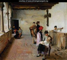 Venetian Loggia - John Singer Sargent - www.johnsingersargent.org
