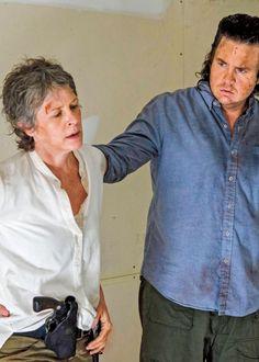 Carol and Eugene in The Walking Dead Season 6B