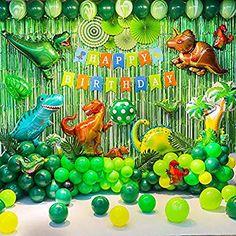 Dinosaur Birthday Party Decorations Dinosaur Party Supplies Dinosaur Balloons for Kids Birthday Theme Party Favors Sl. Dinosaur Party Supplies, Dinosaur Birthday Party, Balloon Birthday, 3rd Birthday, Birthday Ideas, Party Kulissen, Party Favors, Elmo Party, Mickey Party