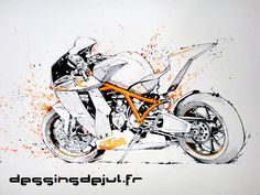 ktm rc8 R by dessinsdejul.deviantart.com on @DeviantArt                                                                                                                                                                                 More