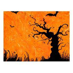 #funny - #Halloween horror evening postcard