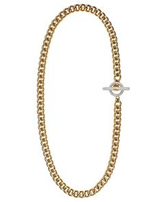 Juicy Couture Pave Toggle Long Necklace