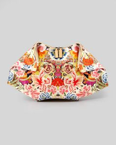 Floral-Print De-Manta Clutch Bag by Alexander McQueen at Neiman Marcus.