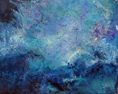 Out of Deep Waters #peace #seascape #Purple #Blue #Water #original #ocean #painting #realism #paintingforsale Flow Painting, Ink Painting, Art Paintings For Sale, Art For Sale, Abstract Expressionism, Abstract Art, Original Artwork, Original Paintings, Deep Water