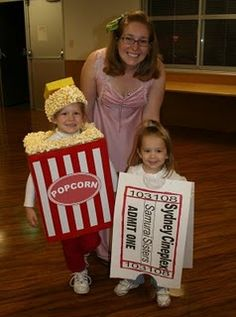 Popcorn and a Movie Ticket Costumes