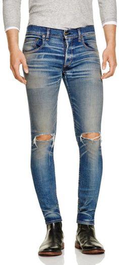 Rag & Bone Fit 1 Super Slim Jeans In Waterloo in Blue