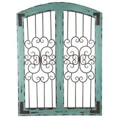 iron and wood gate above the mantle - Google Search