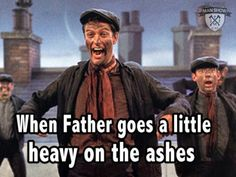 Debate time: Dick Van Dyke's cockney accent in Mary Poppins isn't that bad What do you think? Best Fancy Dress Ideas, Mary Poppins Chimney Sweep, Catholic Jokes, Catholic Priest, Trailers, Catholic Easter, Church Memes, Religious Humor, Christian Humor