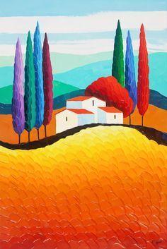 Risultati immagini per sveta esser paintings Abstract Art Painting, Colorful Art, Art Painting, Naive Art, Painting, Oil Painting, Whimsical Art, Art, Landscape Art