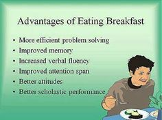 Advantages of Eating Breakfast