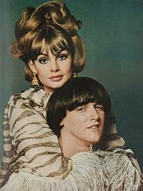 Jean Shrimpton and (trouser-splitting) pop star P.J. Proby, ca. mid-60s, UK Vogue.