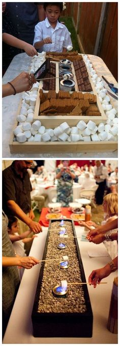 Rustic country bbq s'mores wedding reception decor ideas #weddings #weddingideas #weddingdecor #weddinginspiration